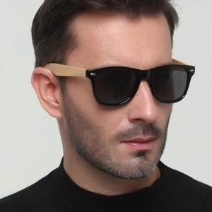 NWT | Handmade Bamboo Polarized Sunglasses